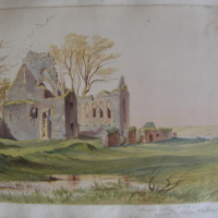 Athassel Abbey Co. Tipperary. Founded by William de Burgo early 13th century. Geo V Du Noyer Sept 1846