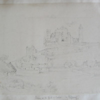Ruins on the Rock of Cashel Co. Tipperary. Rock of Cashel from the E. Oct 1840