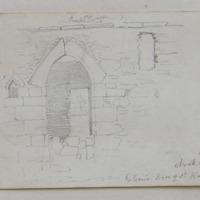Exterior Door of St Katherines Chapel, Hook Bay, Ballyhack, Co. Wexford