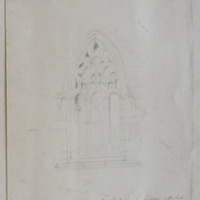 E window from building attached to the N wall of the present cathedral church of Old Leighlin Co. Carlow. Aug 1848