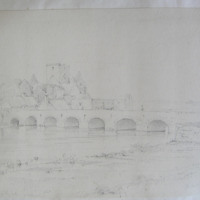The Abbey of Holy Cross Co. Tipperary. Geroge V Du Noyer Aug 1840