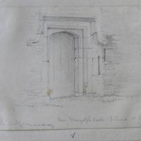 Door. Dungulph Castle, Fethard Co. Wexford. Said to have been built by a man named Whitty