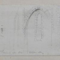 July 27 1848. Exterior of the nave Kildare Abbey [Cathedral]