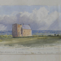 Scar Castle, Co. Wexford, near Duncormick; the old House attached built by Christopher Wilson Esquire 1774, see inscription over door