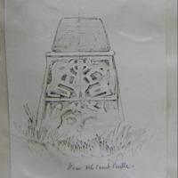 Base of stone cross near Old Court Castle