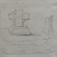 Calvary cross from the road side near the old church of Rathgarve Co. W Meath. Sheet 3/4.