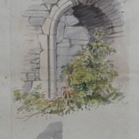 In West wall of tower. West end of nave. Original maid doorway to Fore abbey chapel. Co. Westmeath