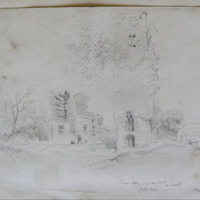 Slane Abbey and old church Co. Meath looking e.s.e. May 1866
