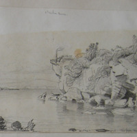 View from Muckross demesne. Ross Castle.  May 1855