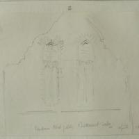 Window West Gable Buttevant Abbey. April 1856