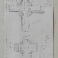 granite cross on road side below the church of Ferns, Co. Wexford, 3rd July 1862; granite; red granite; …