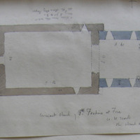 Ancient church of St. Fechin's at Fore Co. W. Meath. 15 May 1864. [scaled plan]
