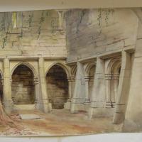 Geo:V. Du Noyer ad nat:; NE corner of cloister Muckross Abbey; Killarney; 1 Aug 1855
