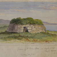 House of St Finan Cam on Church Island Lough Currane, Co Kerry