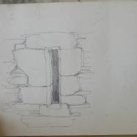 Late medieval single light window [Ormond Castle]