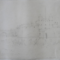 Enniskillen Castle from the Sally Island, August 18. 1842
