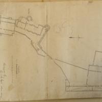 Ground Plan of Dunluce Castle [scaled]. Surveyed by Geo. V. Du Noyer. Ordnance Survey. Nov 1839. To be reduced one half