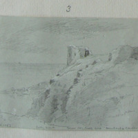 Tower over Castle Cove Dundeady Castle Oct 1853