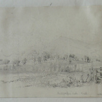 Mitchelstown Castle Co. Cork Galtee More in the distance. Signed