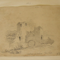 Water Tower and Barbican Trim Castle. 16 Sept 1859.