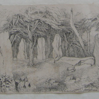 I. Forbes Leslie, Stone Circle and supposed Altar stone, Seanhinny