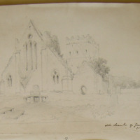 Old church of Gowran Co. Kilkenny. Aug 1848
