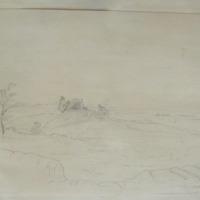 King O'Mailoghlans Castle Clonmacnoise 30 July 1847. Kings Co.