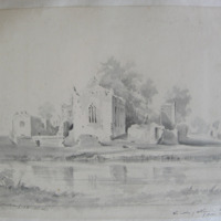 The Abbey of Athassel. Built 1200 by Miller Fitz adlheim. From nature G. S. D. Oct 1840