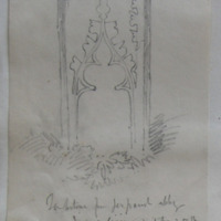 Tombstone from Jerpoint Abbey. Inscribed lines in imitation of Brass. Apr 1864