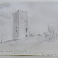 Coolamber Castle Co. Longford. Sheet 16/34. View looking SE from the road