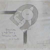 Ground plan of angle tower of Carlanstown Castle. Co. W Meath [scaled plan]