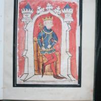 Edward III enthroned (1327-1377) colour