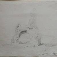 Base of Round Tower of St Nessan. Ireland's Eye June 1843