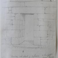 Doorway of old church of Agharra Co. Longford near Legan. Sheet 34/3 [scaled elevation of doorway]