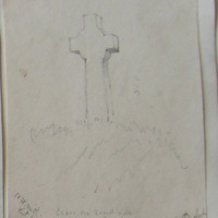 Cross on roadside. Townland of Foyran near the old church of St Eidan. May 1864