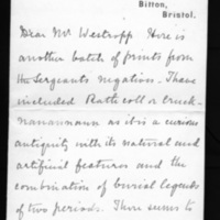 Letter from H. T. Knox to Thomas J. Westropp, April 2, 1907