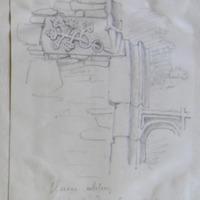 Slane Abbey part of windows. Aug 1866 [label stop]