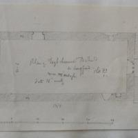 Plan of Toysheenod old church Co. Longford. Near Ardagh. Sheet 23/1. date 16th century [scaled plan]