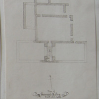 Plan of Devenish Abbey, Built: A.D. 1429. Geo: Du Noyer [scaled plan]
