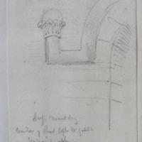 drip moulding window of rood loft W gable Jerpoint Abbey Co. Kilkenny