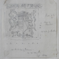 Arms of Plunket. On the ridge of Finnea. Co. W Meath. Sept 1864