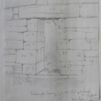 Exterior of the doorway of the old church of Agharra Co. Longford. Near ?Legan. Sheet 24/3. 30 June 1864