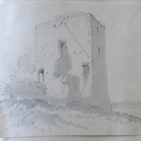 untitled. View looking NW. Coolamber Castle Co. Longford