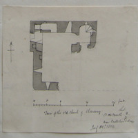Tower of the old church of Clonarney Co. W Meath. Sheet 9/3. near Castletown Delvin. July 25th 1864