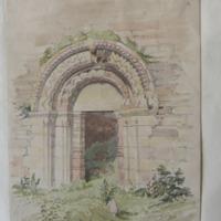Door of olf church of Kilmalkedar Co. Kerry July 1856