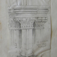 Cap of pillasters Interior Choir Mellifont [recte Chapter House]