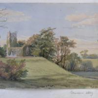 Muckross Abbey; Sketch from nature; 31 Oct. 1855; G: V. Du Noyer