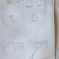 Goldyng Flemyng ? as first baron of Slane. St. Peter's Church Yard Drogheda