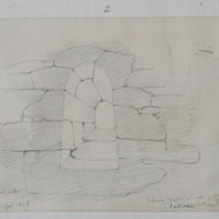 Interior window in E gable Gallarus stone roofed oratory Co. Kerry August 1856