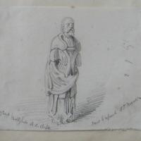 effigy of wood Ballyhale RC chapel. Said to represent St. Martin